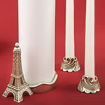Paris / Eiffel tower themed Unity candle set from fashioncraft