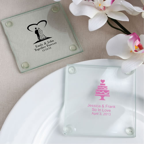 personalized glass coasters wedding baby shower anniver sary favors