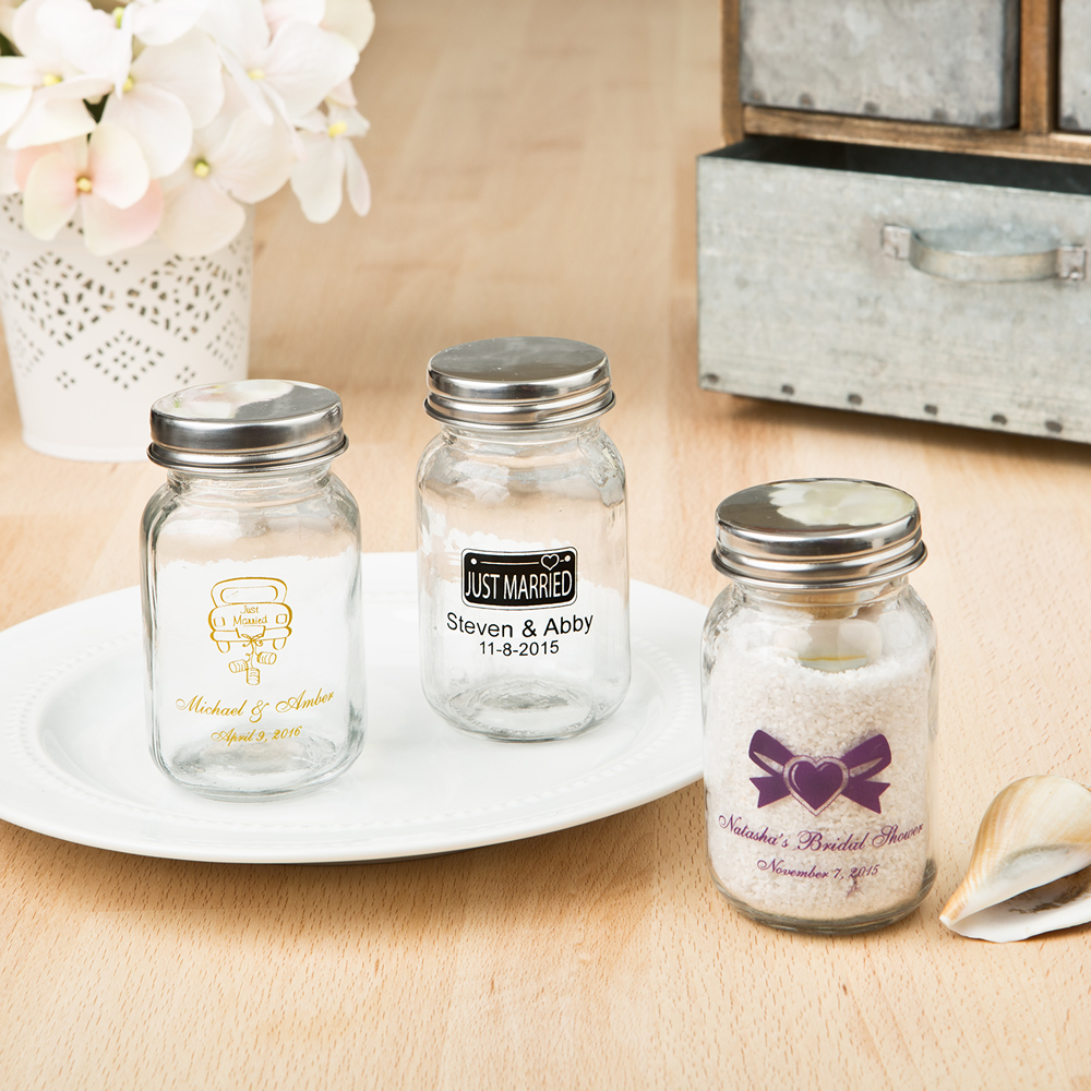 Personalized Mason Jar Favors