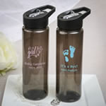 Design your own collection black translucent Water bottle