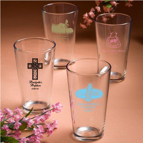 Personalized Pint Glassess Favors