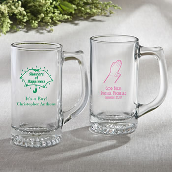 Personalized Glass Beer Mug 12.25 oz From Fashioncraft - baby design