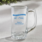 Personalized Glass Beer Mug 12.25 oz From Fashioncraft - birthday design