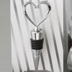 All Metal Heart Wine Bottle Stopper from Fashioncraft®
