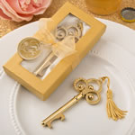 Gold vintage skeleton key bottle opener from fashioncraft
