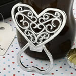 Filigree heart design chrome metal bottle opener from Fashioncraft®
