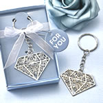 Diamond design metal key chain