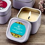 Personalized Expressions White scented travel  Candle Tin