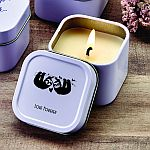 Design your own direct screen printed travel candle tin