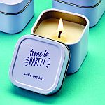 Design your own direct screen printed candle tin
