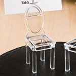 Miniature clear Acrylic formal reception chairs from fashioncraft