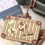 Vintage suitcase design luggage tag