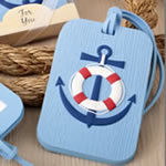Nautical themed luggage tag