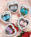 <em>Personalized Expressions Collection</em> White Heart Shaped Mint Tins