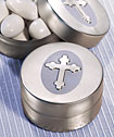 Silver Cross Design Mint Tins