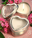 <i>Light For Love Collection</i> Heart Candle Favor Tins