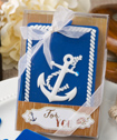 Nautical themed Anchor luggage tags