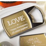 Personalized metallics collection bottle opener  with clear epoxy dome cover