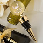 Personalized metallics collection gold metal wine bottle stopper
