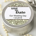 Personalized expressions collection brushed silver metal mint tin