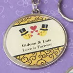Personalized Expressions collection epoxy dome metal key chain