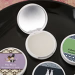 Personalized expressions Collection vanilla scented lip balm with real glass mirror