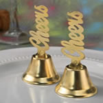 Metal Cheers bell kissing bells with golden finish