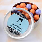 <em>Personalized Expressions Collection</em> Silver Mint Tin Favors