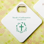 Personalized expressions Coaster / bottle opener - religious