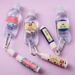 personalized expressions set of lip balm and hand sanitizer