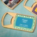 Personalized expressions epoxy dome gold metal bottle opener