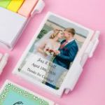 Personalized expressions collection white Note Book with pen and color coded sticky tabs