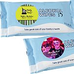 Personalized expressions Alcohol wipes pack of 10 sheets