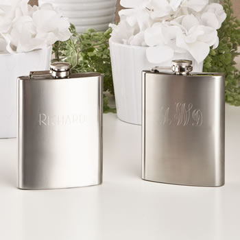 Engraved Stainless steel Hip flask from gifts by fashioncraft