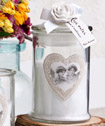 <em>Rose Ancienne</em> <em>Collection</em> Apothecary jar candle favors