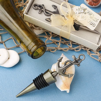 Stylish brass  Anchor design  metal bottle stopper