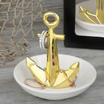 Anchor / Nautical themed ceramic ring and jewelry holder