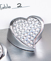 <em>Bling Collection</em> Heart Place Card Holder