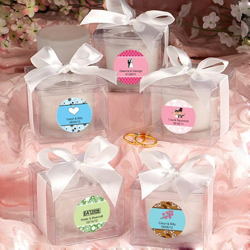 Bridal Shower Favor Sayings For Candles : ... Frosted Candle Wedding Bridal Baby Shower Party Favors eBay