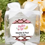 Personalized tropical collection candle favors