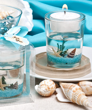 Stunning Beach Themed Candle Favor