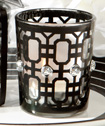 Black-accented candle holder
