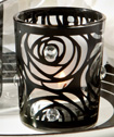 Black-rose candle holder favors