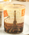 Parisian Themed Glass Votive Holders From Fashioncraft