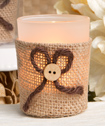 Rustic Burlap Votive Candle Holder