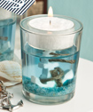 Nautical Themed Gel Candle Holder With Anchor Design From Fashioncraft