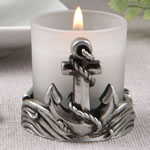 Magnificent Anchor design candle votive from fashioncraft
