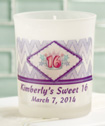 <em>Clearly Custom</em> Frosted Glass Candle Holder With Wax