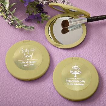 Personalized metallics collection compact mirror from Fashioncraft®