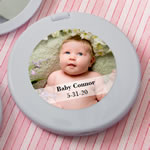 Personalized Expressions Collection silver Compact mirror  - Baby